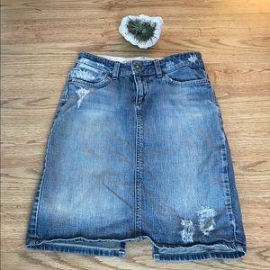 Joe's Jeans Destroyed Skirt Sz 27